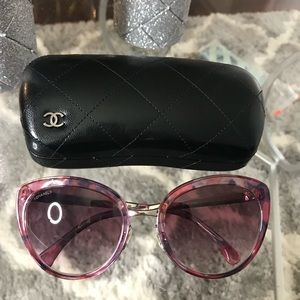 Chanel pink butterfly sunglasses 4208